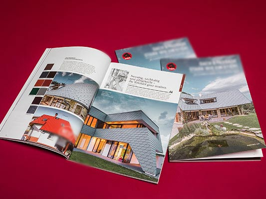Order a brochure – aluminium roof systems -–PREFA, the roof as strong as a bull!