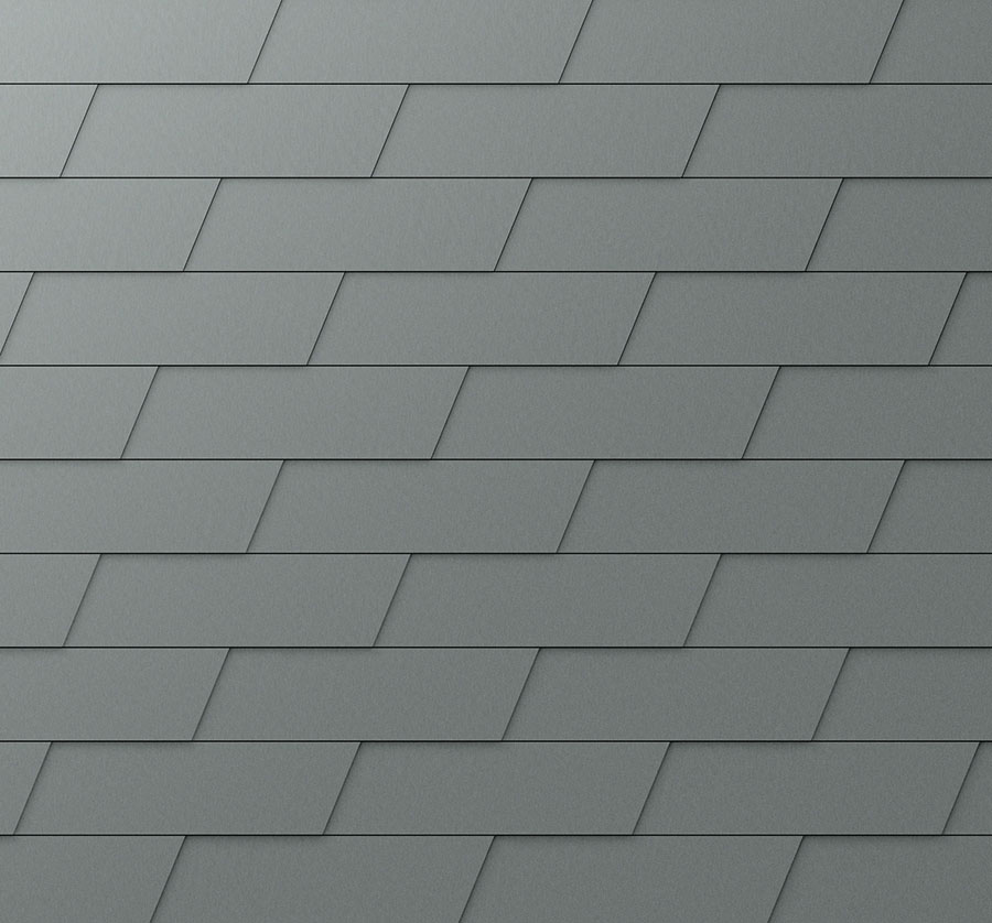 Product catalogue PREFA Façade systems XL façade shingle 07 light grey (similar to RAL 7005) P.10