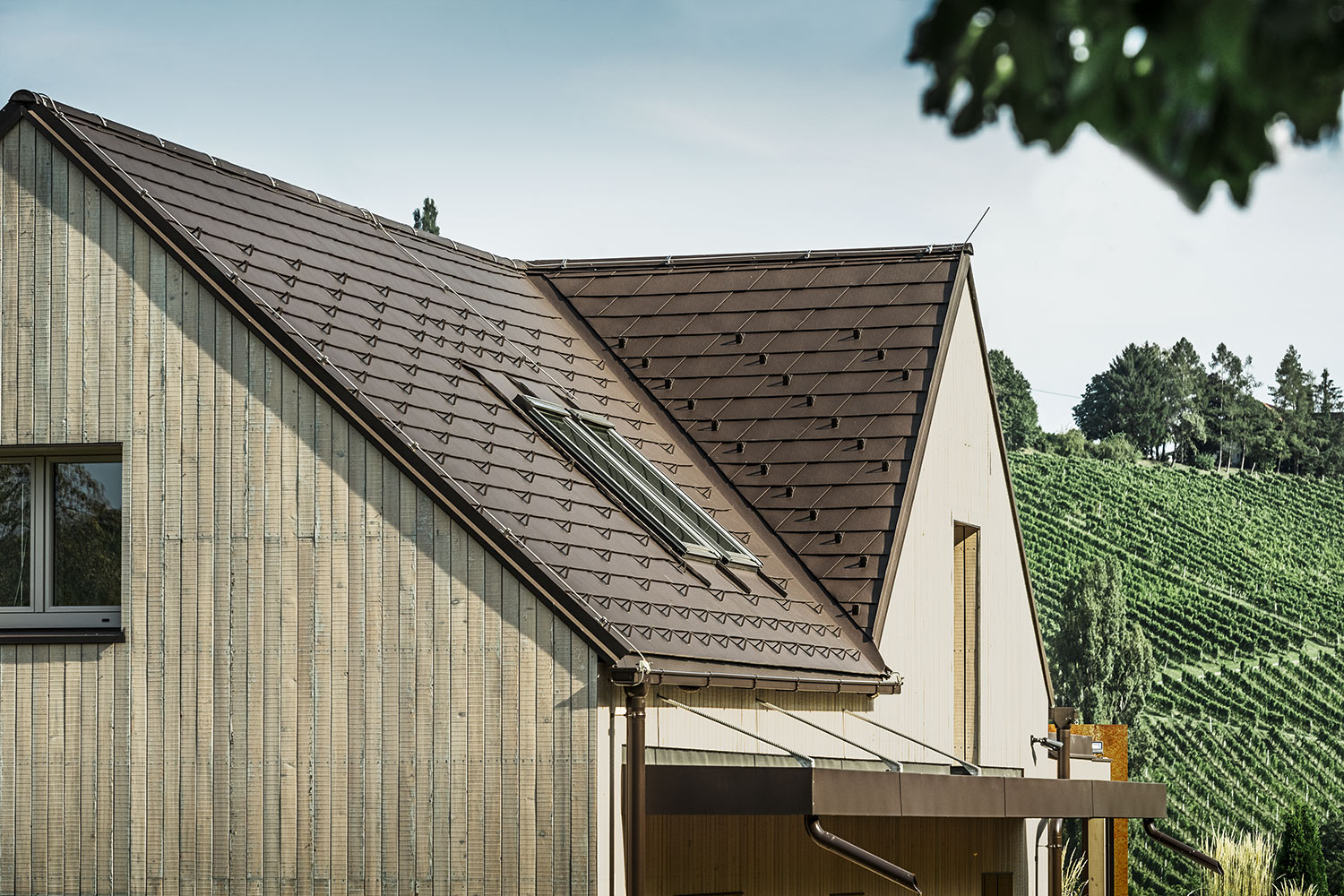 Reference buildings PREFA Roof systems Shingle 11 nut brown (own colour)