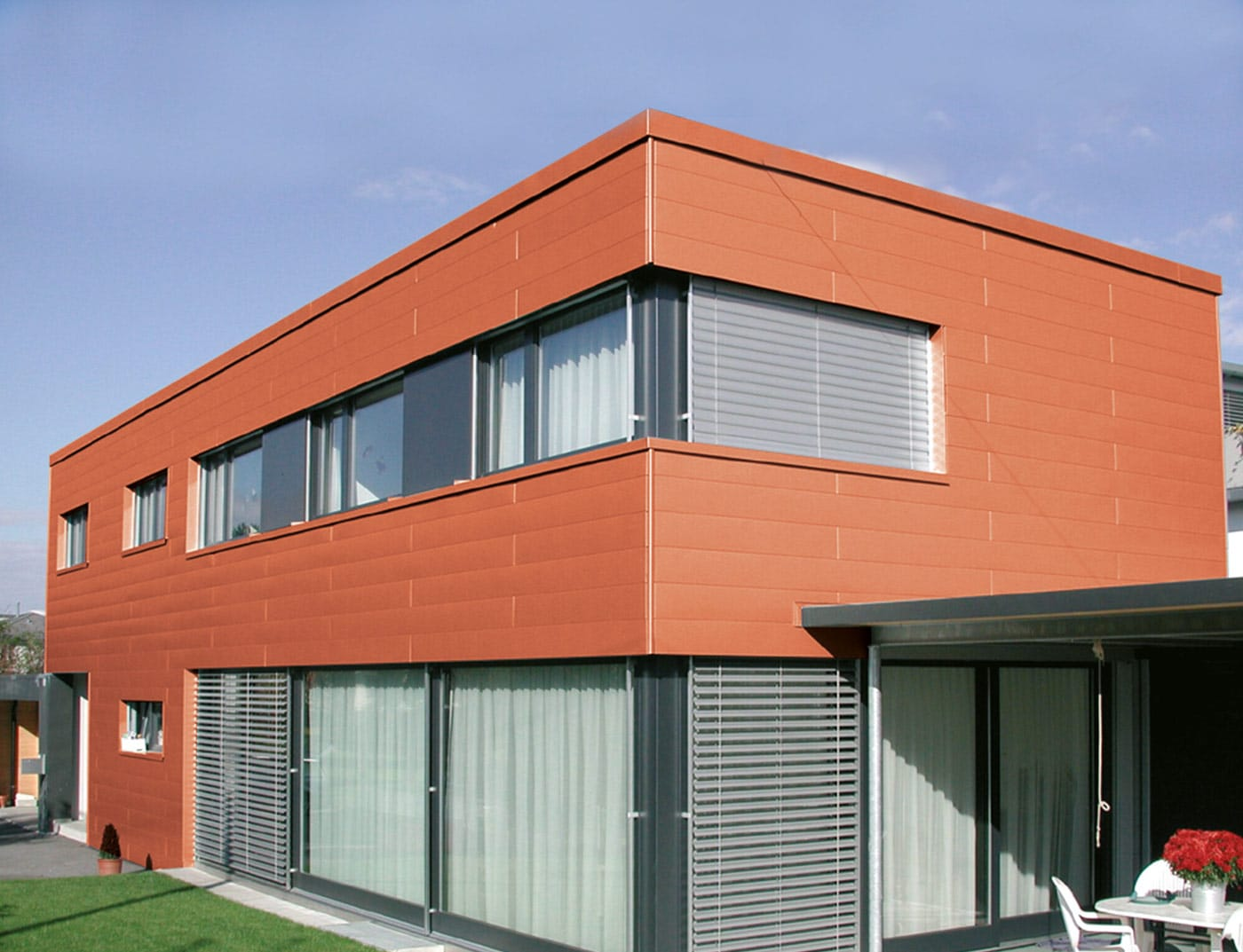 Reference buildings PREFA Façade systems Siding 04 brick red (similar to RAL 8004)