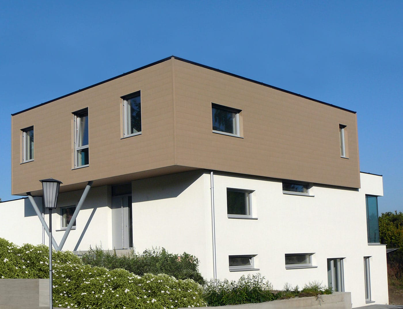 Reference buildings PREFA Façade systems Siding 42 sand brown (own colour)