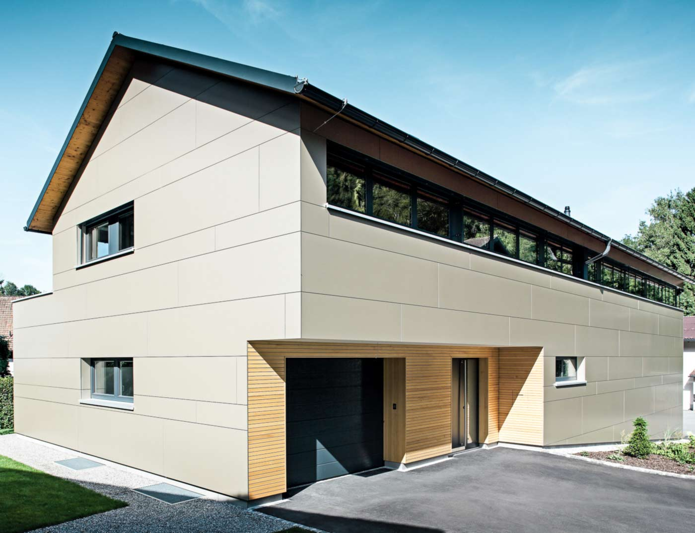 Reference buildings PREFA Façade systems Aluminium composite panel 45 bronze