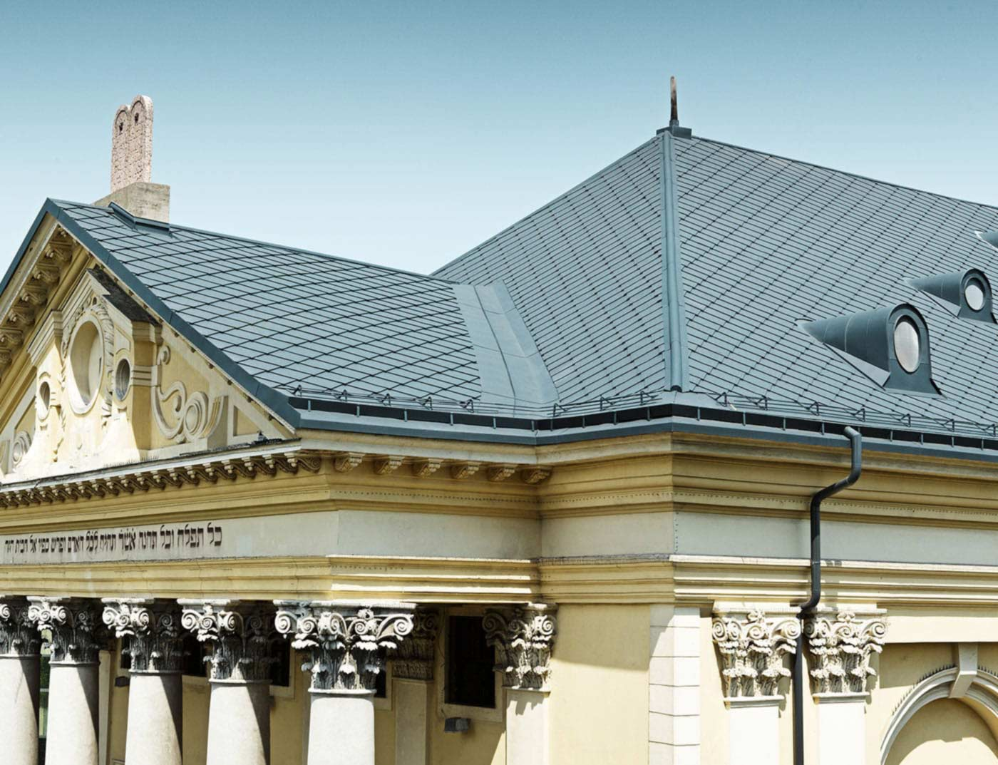 Reference buildings PREFA Roof systems Rhomboid roof tile 44 × 44 01 brown (own colour)